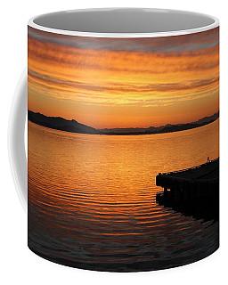 Dawn On The Water At Dusavik Coffee Mug