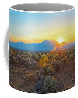Dawn Over Magic Taos Mountain Coffee Mug