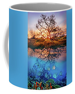 Coffee Mug featuring the photograph Dawn Over The Reef by Debra and Dave Vanderlaan