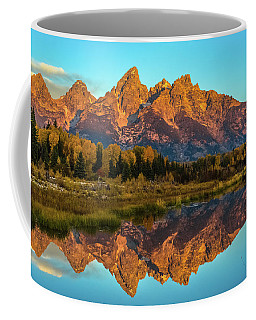 Dawn Over The Tetons Coffee Mug by Yeates Photography