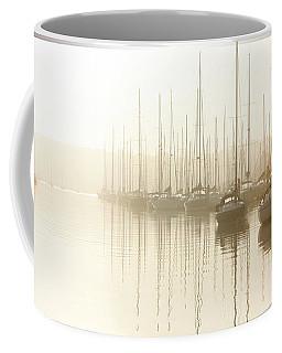 Dawn Reflections - Yachts At Anchor On The River Coffee Mug