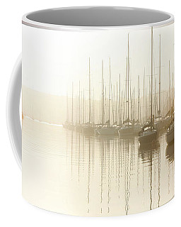 Dawn Reflections - Yachts At Anchor On The River Coffee Mug
