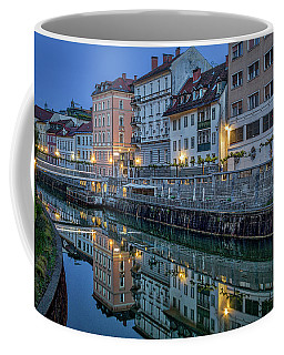 Coffee Mug featuring the photograph Dawn River Reflections #3 - Slovenia by Stuart Litoff