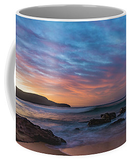 Dawn Seascape With Rocks And Clouds Coffee Mug