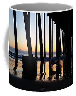 Coffee Mug featuring the photograph Dawn Under The Pier by Robert Banach