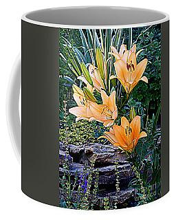 Day Lilies On The Rocks Coffee Mug
