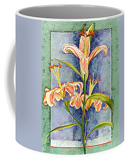 Coffee Mug featuring the painting Day Lily by John Dyess