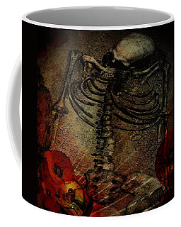 Coffee Mug featuring the digital art Day Of The Dead by Delight Worthyn