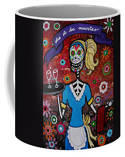 Day Of The Dead Waitress Coffee Mug by Pristine Cartera Turkus