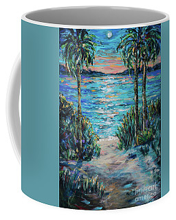 Coffee Mug featuring the painting Day To Night by Linda Olsen