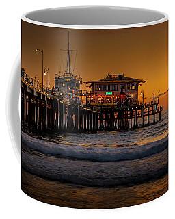 Daylight Turns Golden On The Pier Coffee Mug