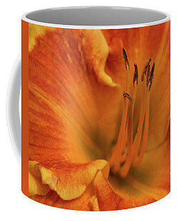 Coffee Mug featuring the photograph Daylily Close-up by Sandy Keeton