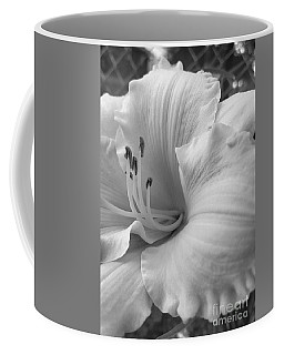 Daylily Delight In Black And White Coffee Mug