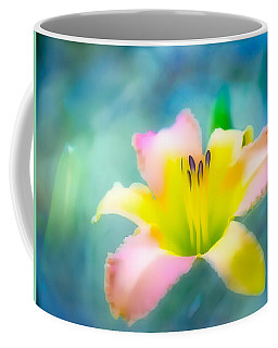 Daylily In Blue Coffee Mug