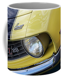 Coffee Mug featuring the photograph Daytona Yellow Z28 by Dennis Hedberg