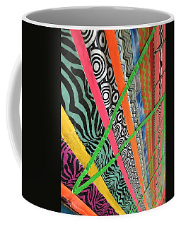 Dazzling Delirious Duct Tape Diagonals Coffee Mug