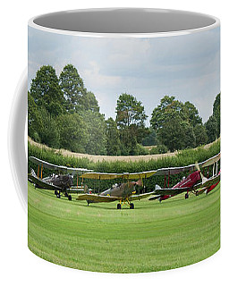 De Havilland Tiger Moths Line-up Coffee Mug