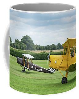 De Havilland Tiger Moths Taxiing Coffee Mug