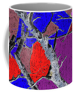 Dead Birch Abstract Dark Coffee Mug