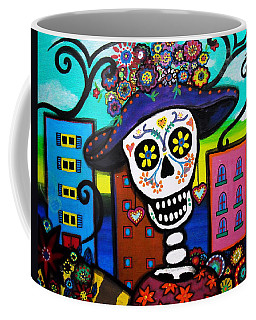 Coffee Mug featuring the painting Dead In The City by Pristine Cartera Turkus