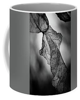 Fragile Leaf Bw Coffee Mug
