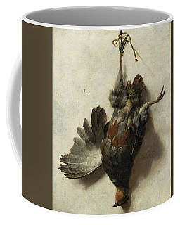 Dead Partridge Hanging From A Nail Coffee Mug