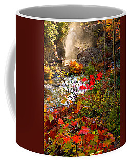 Dead River Falls Foreground Plus Mist 2509 Coffee Mug
