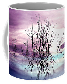 Coffee Mug featuring the photograph Dead Trees Colored Version by Susan Kinney