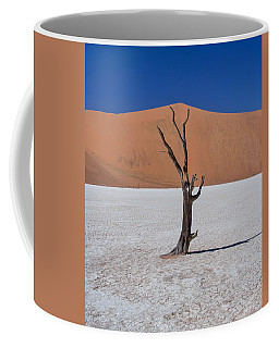 Coffee Mug featuring the photograph Dead Vlei Solo by Rand