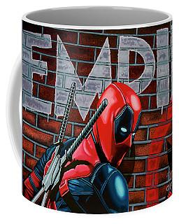 Deadpool Painting Coffee Mug by Paul Meijering