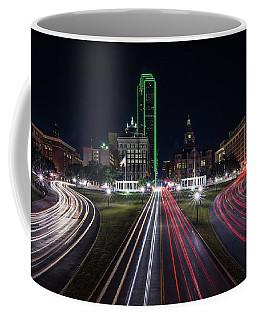 Dealey Plaza Dallas At Night Coffee Mug