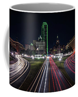 Dealey Plaza Dallas At Night Coffee Mug
