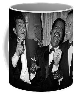 Dean Martin, Sammy Davis Jr. And Frank Sinatra Laughing Coffee Mug