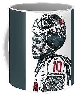 Coffee Mug featuring the mixed media Deandre Hopkins Houston Texans Pixel Art 2 by Joe Hamilton