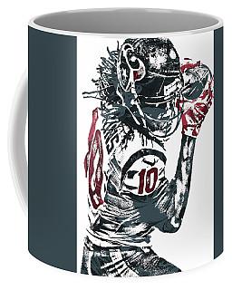 Coffee Mug featuring the mixed media Deandre Hopkins Houston Texans Pixel Art by Joe Hamilton
