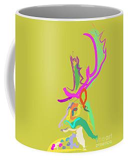 Coffee Mug featuring the painting Dear Deer by Go Van Kampen