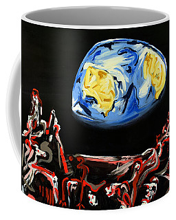 Coffee Mug featuring the painting Death By Starlight by Ryan Demaree