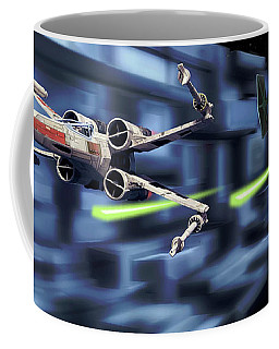 Death Star Trench Battle  Coffee Mug