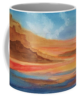 Coffee Mug featuring the painting Death Valley by Ellen Levinson