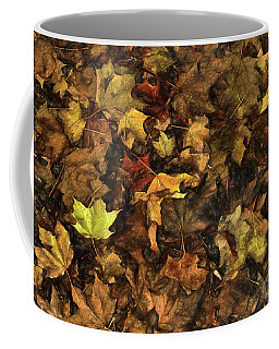 Decayed Autumn Leaves On The Ground Strong Stroke Coffee Mug