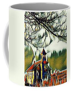 December Country Church Coffee Mug