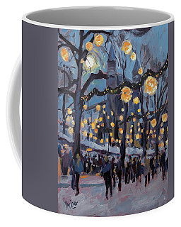 December Lights At The Our Lady Square Maastricht 1 Coffee Mug
