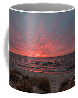 Coffee Mug featuring the photograph December Sunset On Lake Michigan by Sue Smith