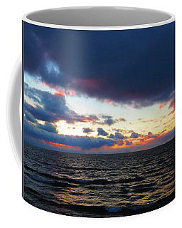 December Sunset, Wolfe Island, Ca. View From Tibbetts Point Lighthouse Coffee Mug
