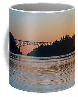 Deception Pass Bridge Sunset Sunstar Coffee Mug