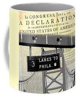 Declaration Of Independence Ben Franklin Bridge Coffee Mug