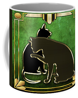 Deco Cats - Emerald Coffee Mug