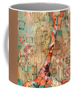 Coffee Mug featuring the painting Deco Tree by Carrie Joy Byrnes