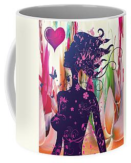 Coffee Mug featuring the digital art Deco Valentine Beauty by Robert G Kernodle