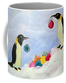 Decorating Penguins Coffee Mug